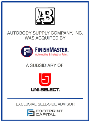 Autobody Supply Company Acquired By Finishmaster Footprint